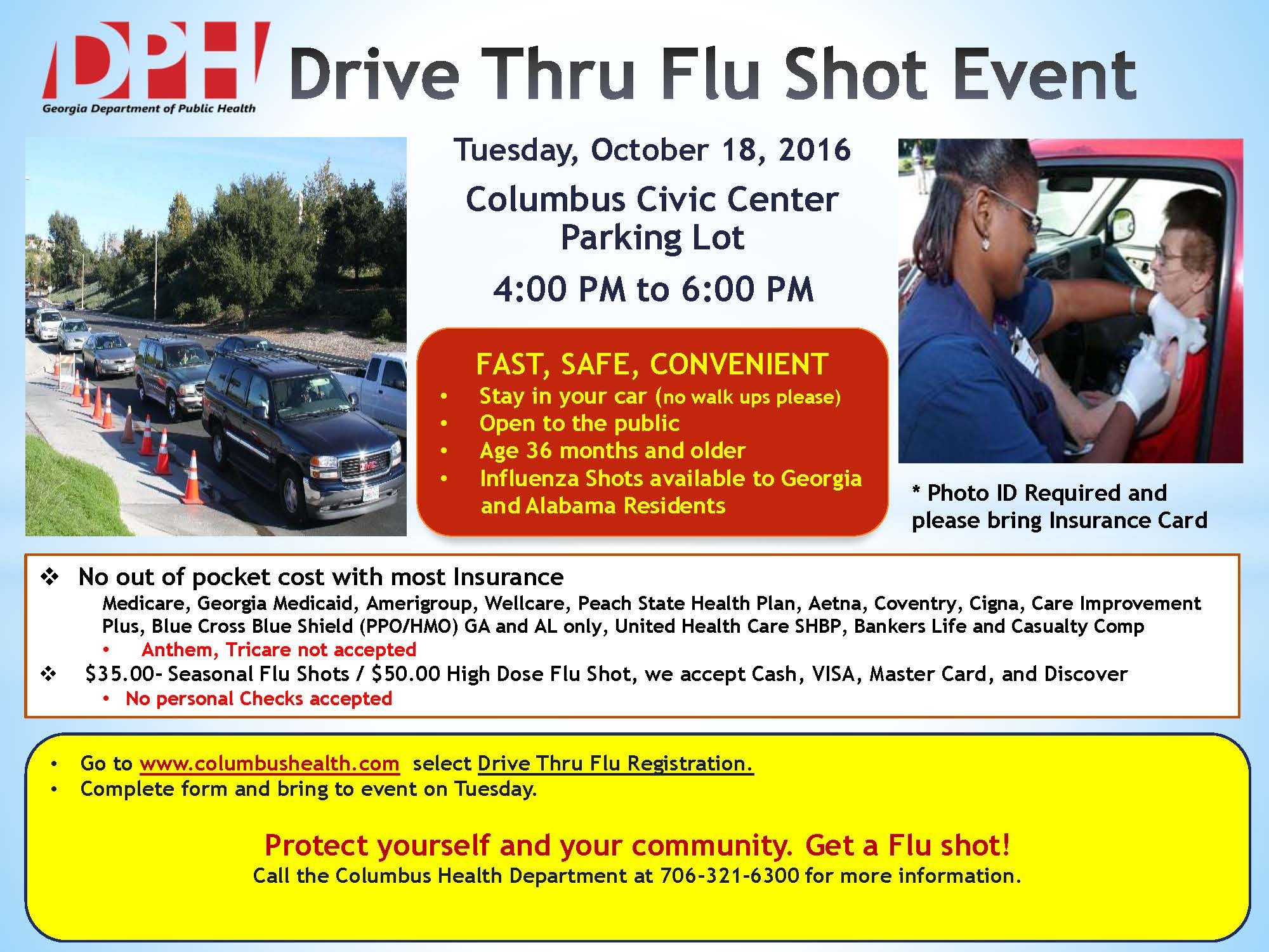 Drive thru Flu Clinic Register Now – West Central Health District